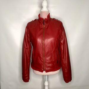 Levi's vintage sherpa lined red jacket.